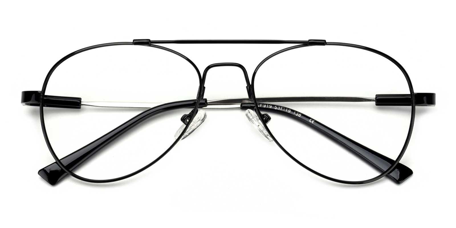 Nantes-Black-Aviator-Metal-Eyeglasses-detail