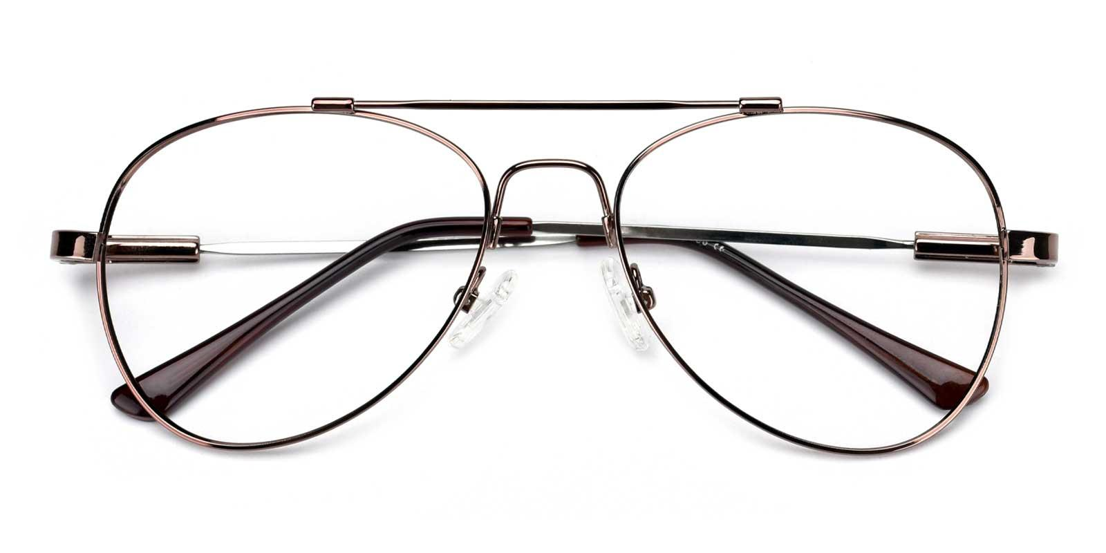 Nantes-Brown-Aviator-Metal-Eyeglasses-detail