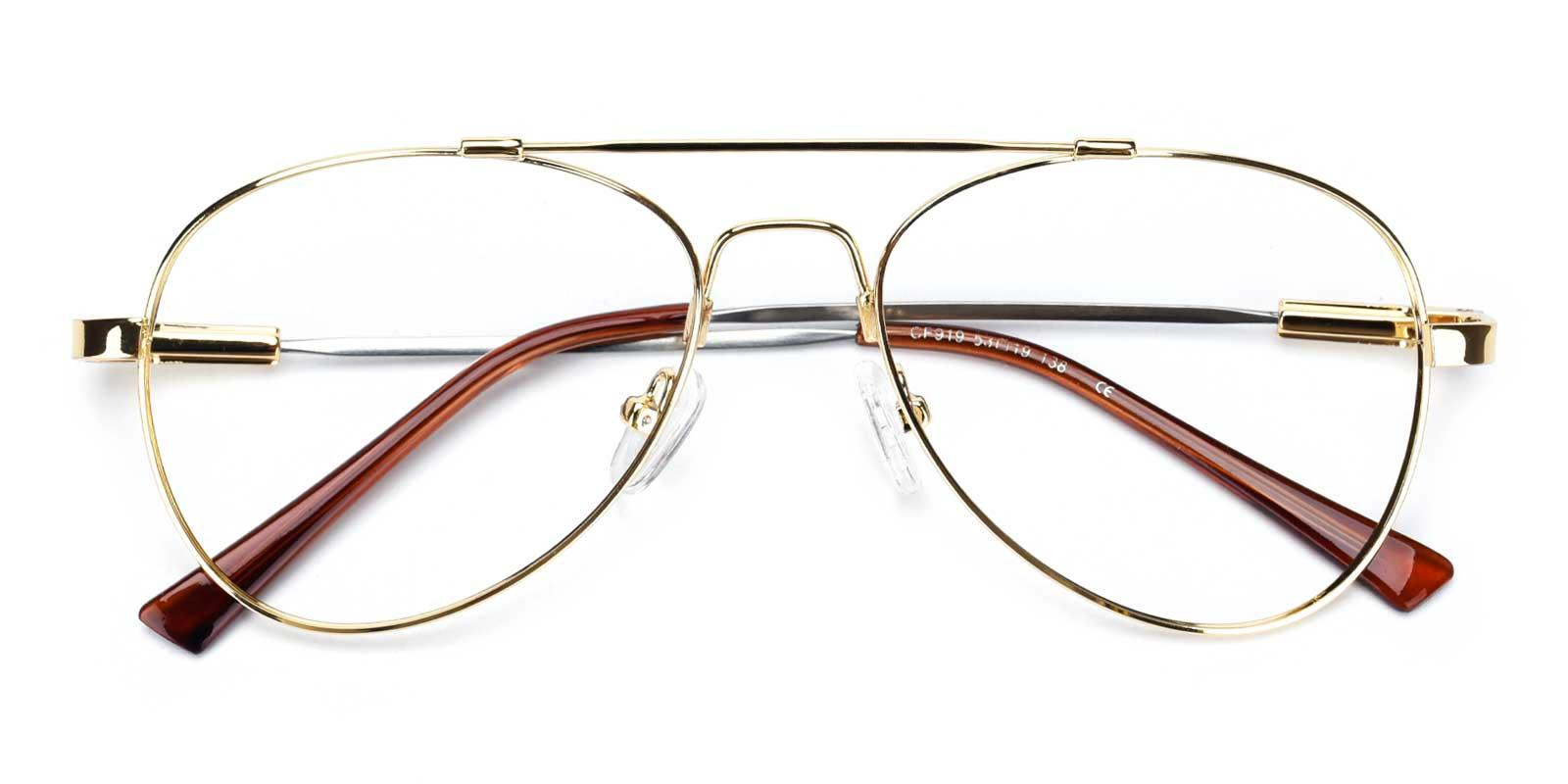 Nantes-Gold-Aviator-Metal-Eyeglasses-detail