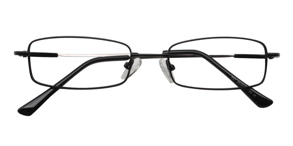 -Black-Rectangle-Metal-Eyeglasses-detail