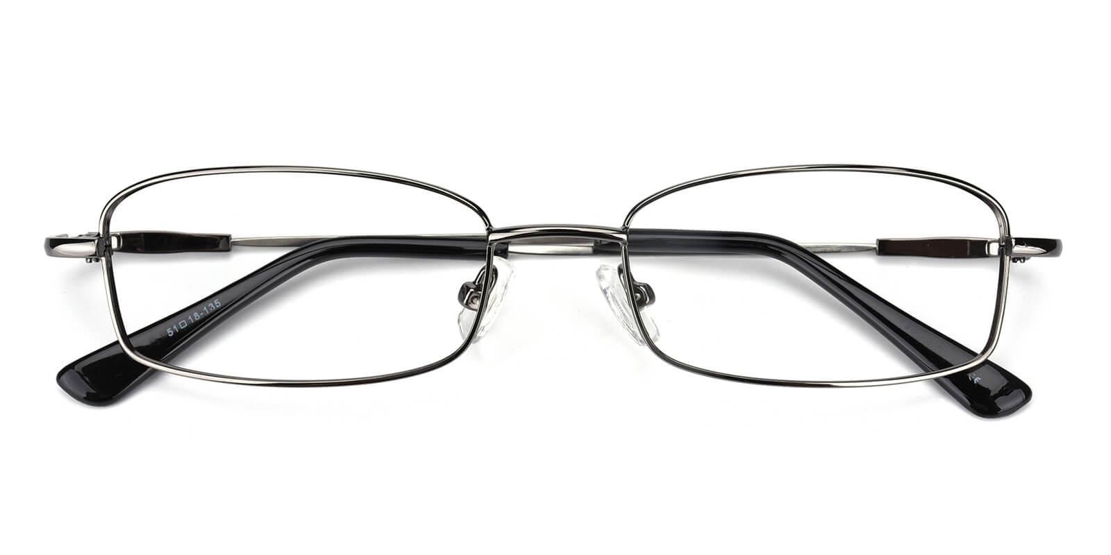 Isha-Gun-Rectangle-Metal-Eyeglasses-detail