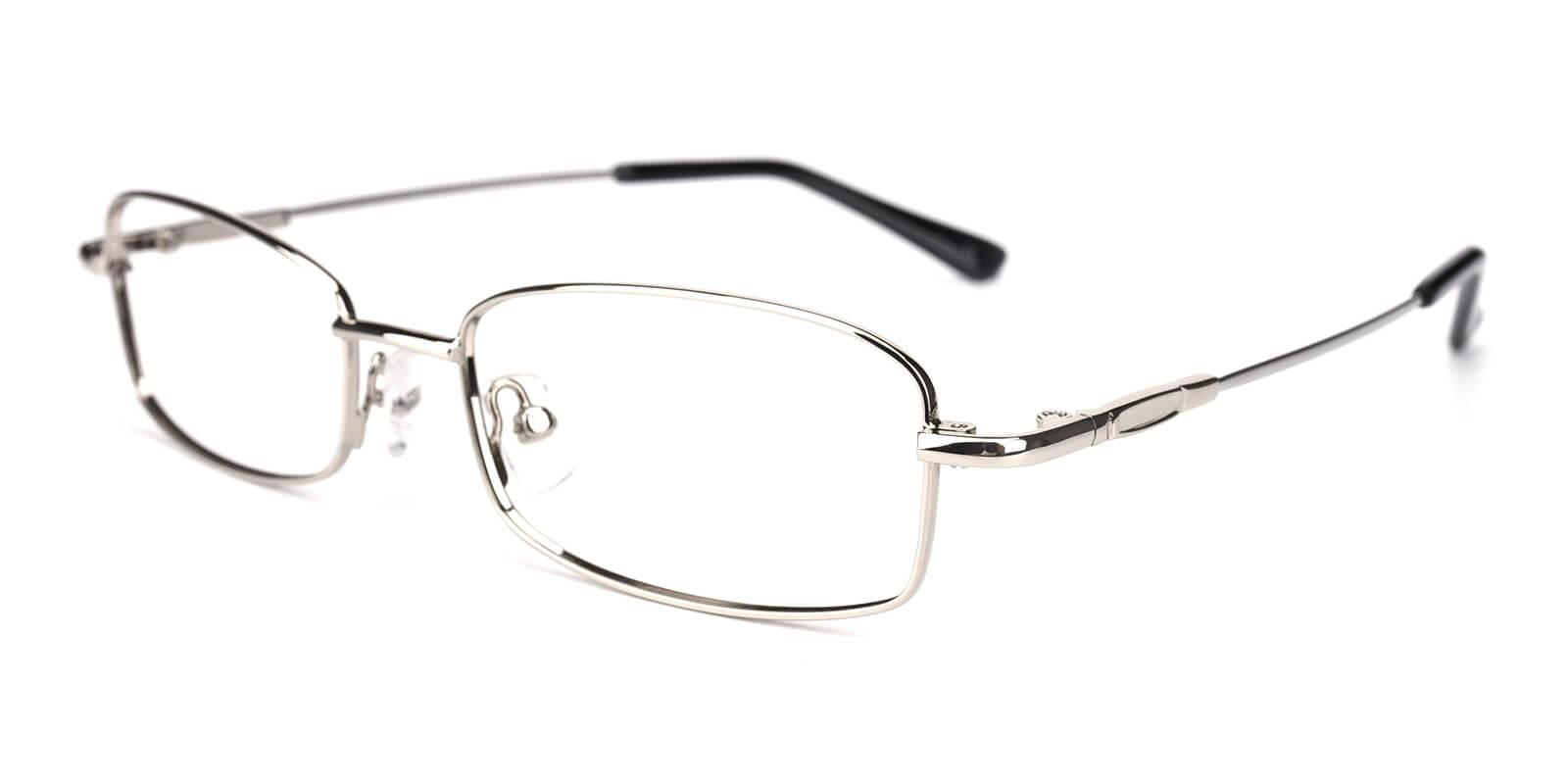 Isha-Silver-Rectangle-Metal-Eyeglasses-additional1