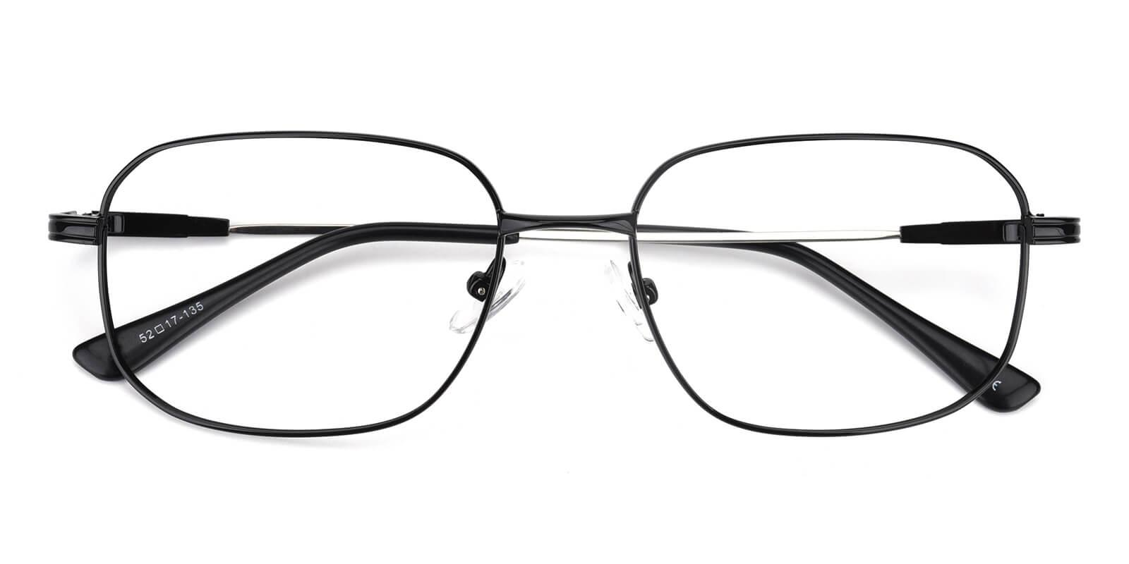 Weston-Black-Square-Metal-Eyeglasses-detail