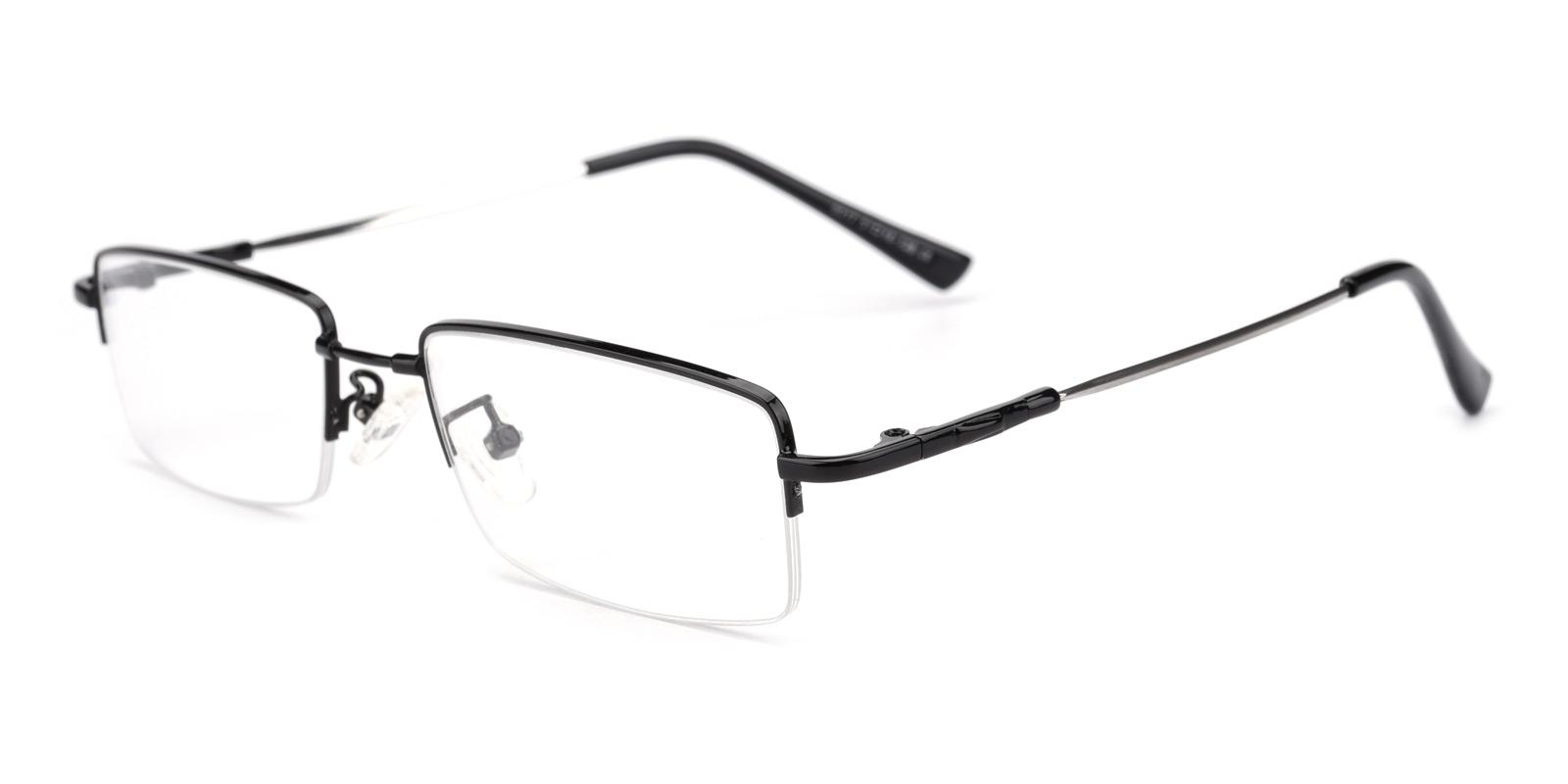 Pluto-Black-Rectangle-Metal-Eyeglasses-detail