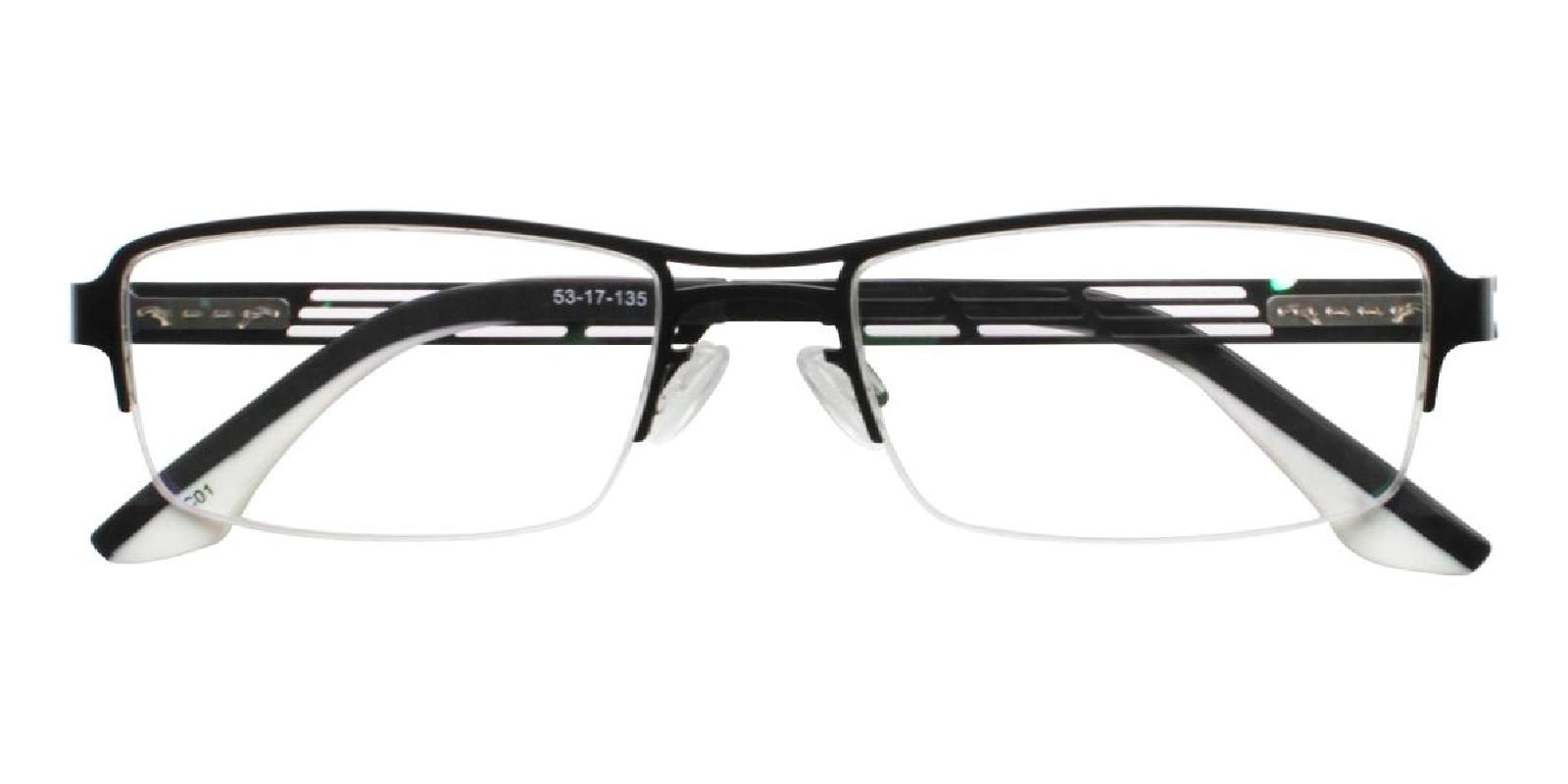 Carel-Black-Rectangle-Metal-Eyeglasses-detail