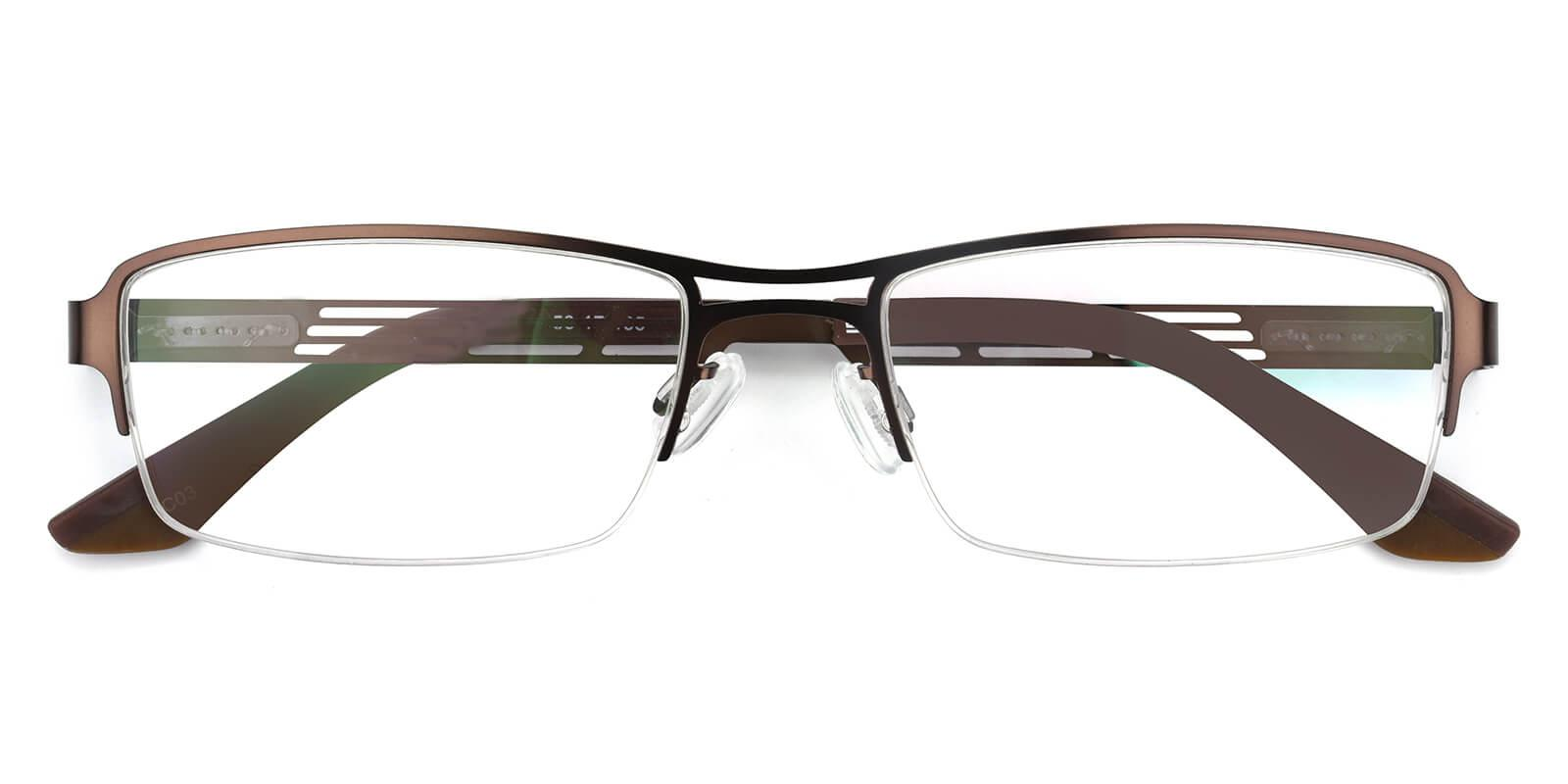 Carel-Brown-Rectangle-Metal-Eyeglasses-detail