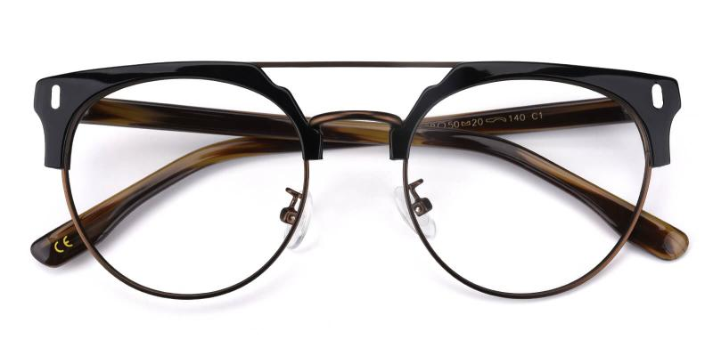 Timons-Brown-Eyeglasses