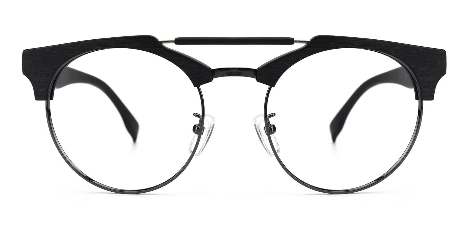Ombama-Black-Browline-Combination-Eyeglasses-detail