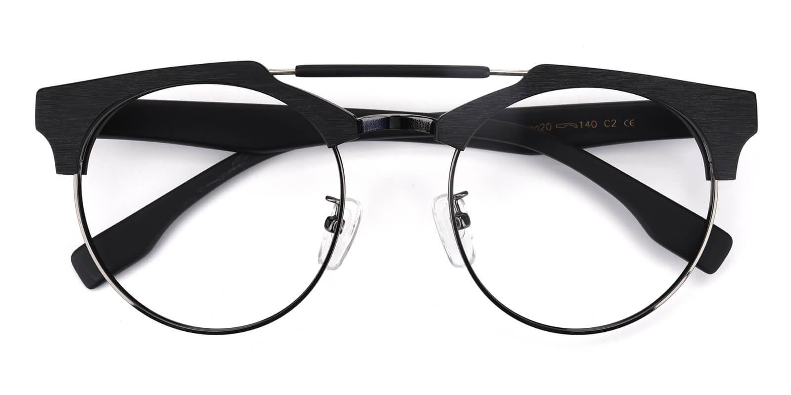 Ombama-Black-Browline-Combination-Eyeglasses-detail