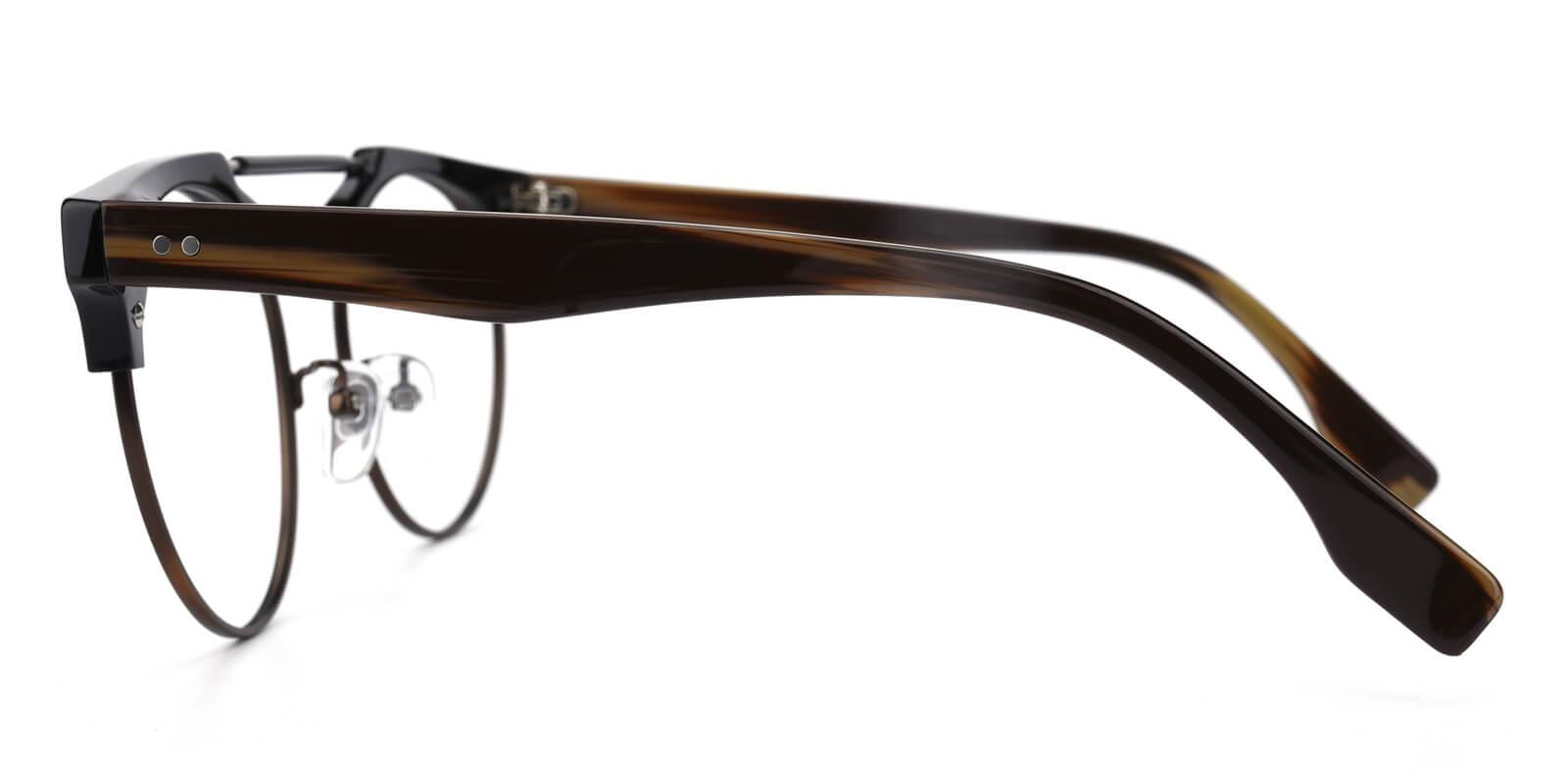 Ombama-Brown-Browline-Combination-Eyeglasses-detail
