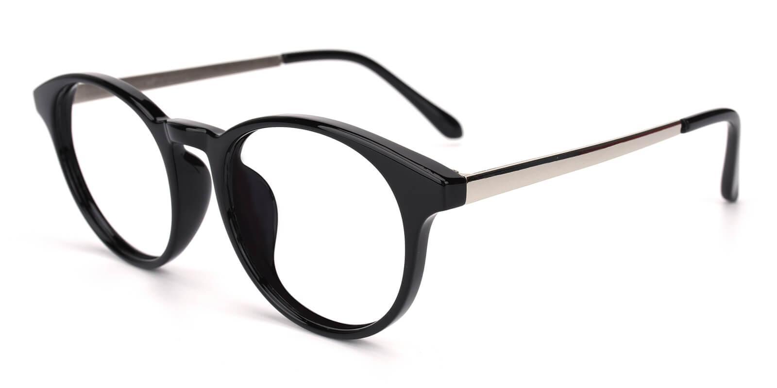 Zaire-Black-Round-Metal / TR-Eyeglasses-detail