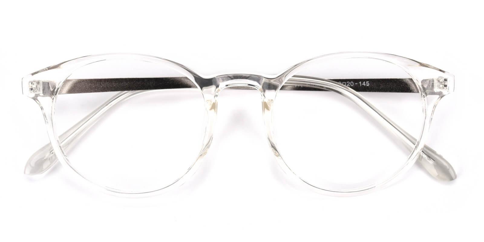 Zaire-Translucent-Round-Metal / TR-Eyeglasses-detail