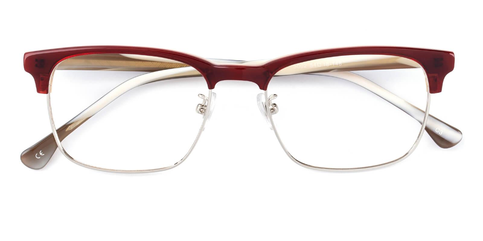 Sublime-Red-Browline-Combination-Eyeglasses-detail