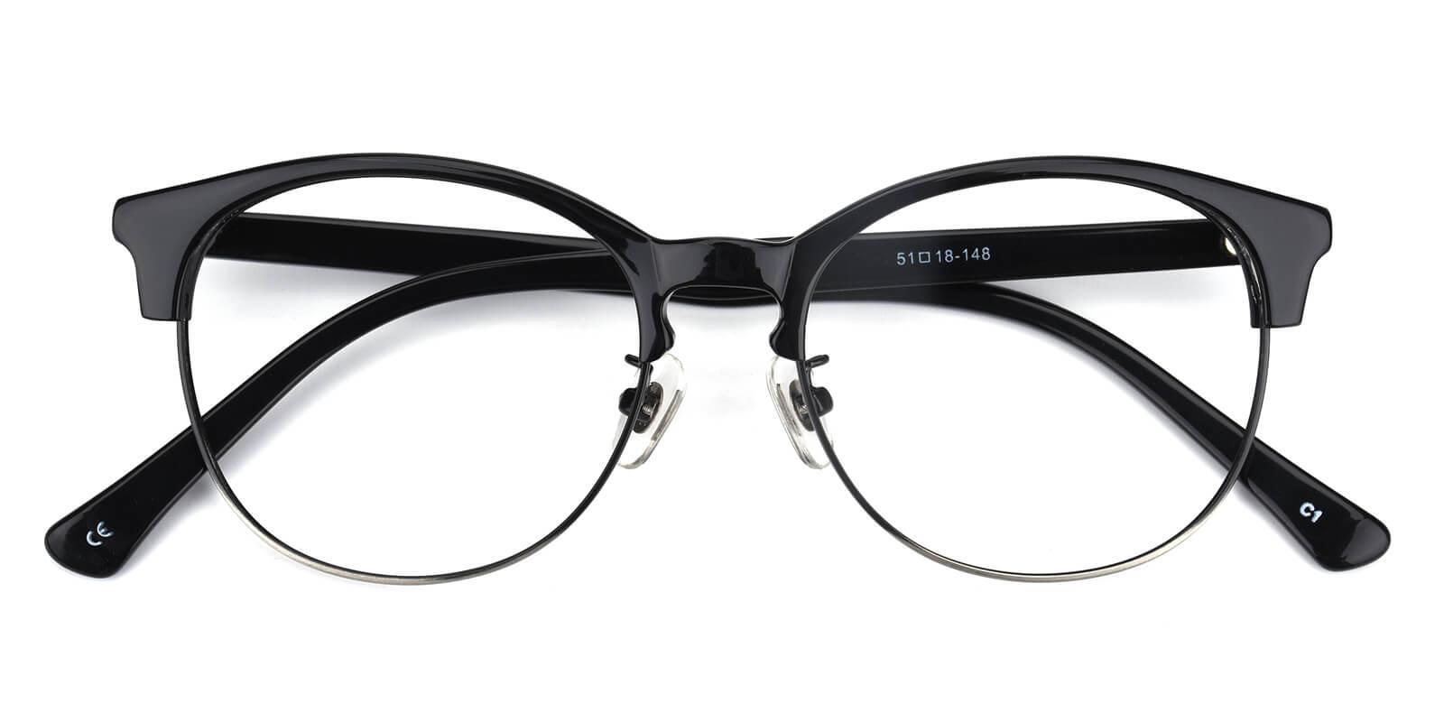 Withered-Black-Browline-Combination-Eyeglasses-detail
