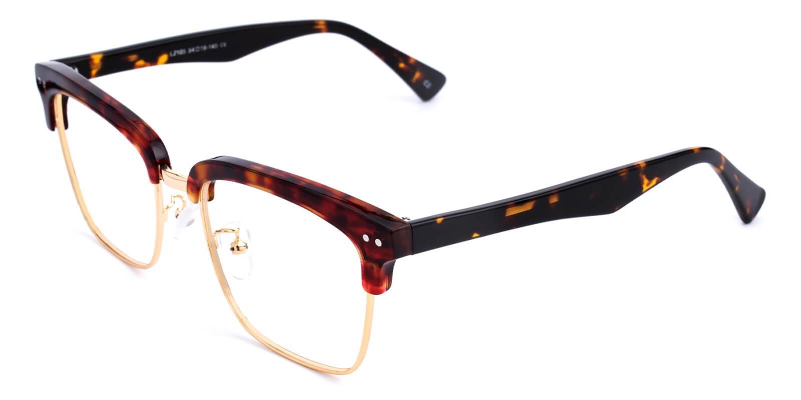 Ellimim-Tortoise-Browline-Acetate / Metal-Eyeglasses-additional1