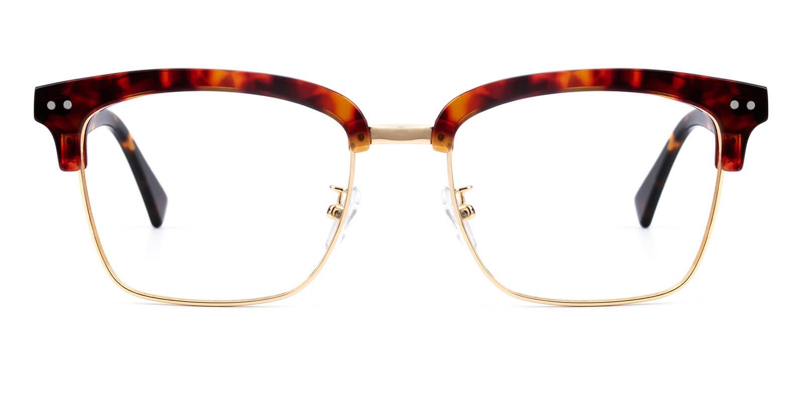Ellimim-Tortoise-Browline-Acetate / Metal-Eyeglasses-additional2