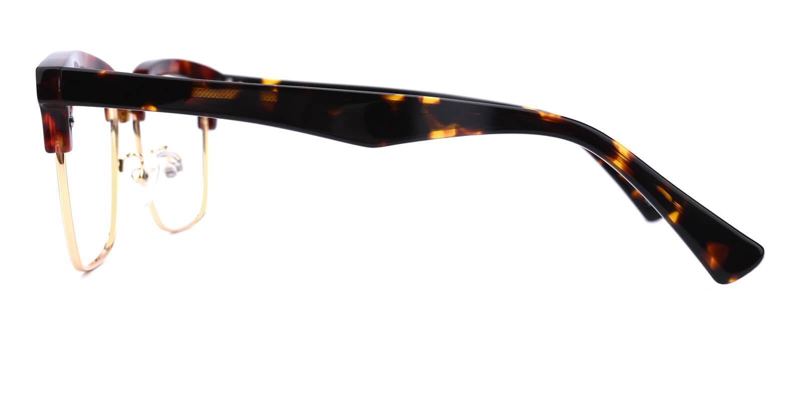 Ellimim-Tortoise-Browline-Acetate / Metal-Eyeglasses-additional3