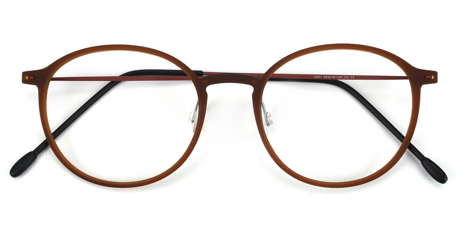 Yunda-Brown-Round-Combination-Eyeglasses-detail