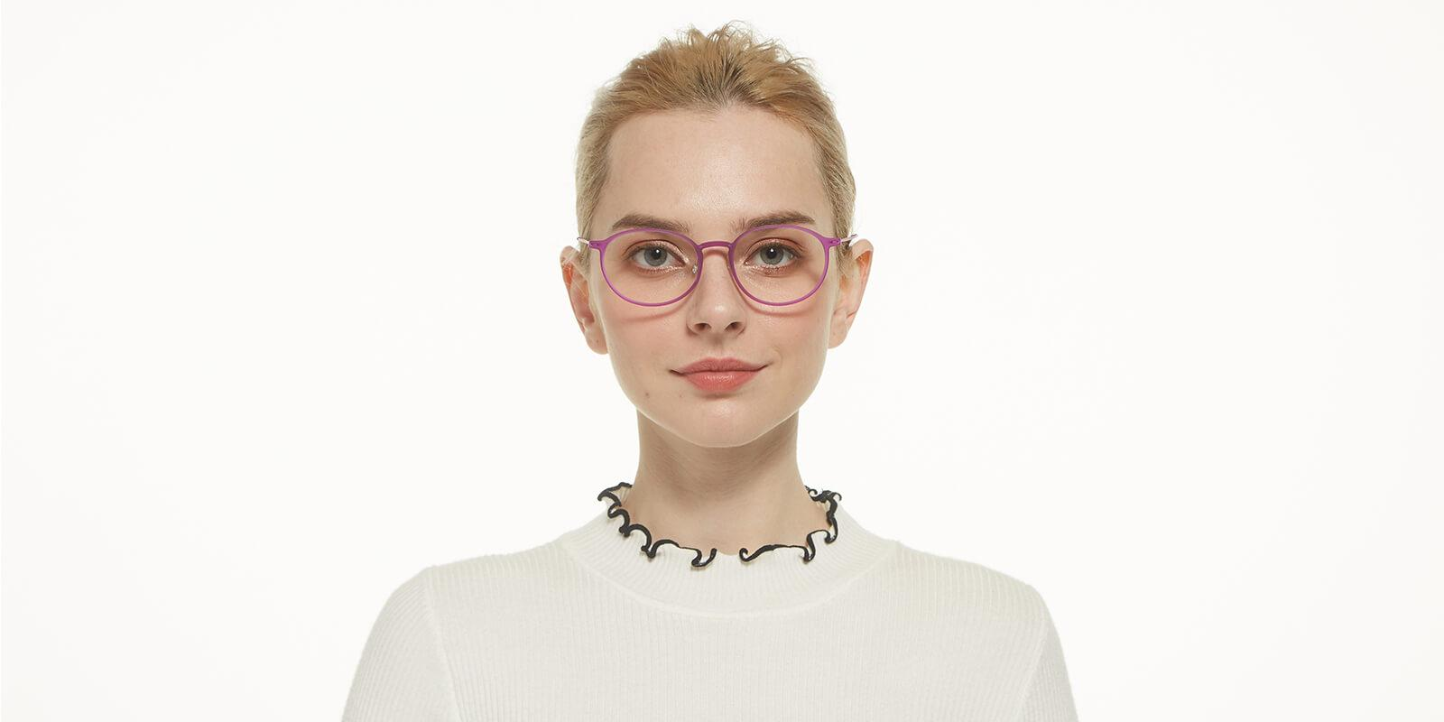 Yunda-Purple-Round-Combination-Eyeglasses-additional4