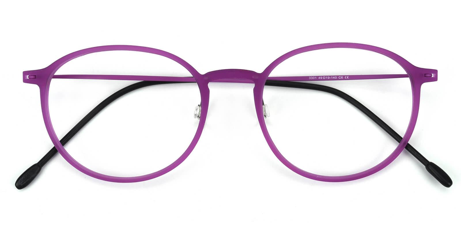 Yunda-Purple-Round-Combination-Eyeglasses-detail
