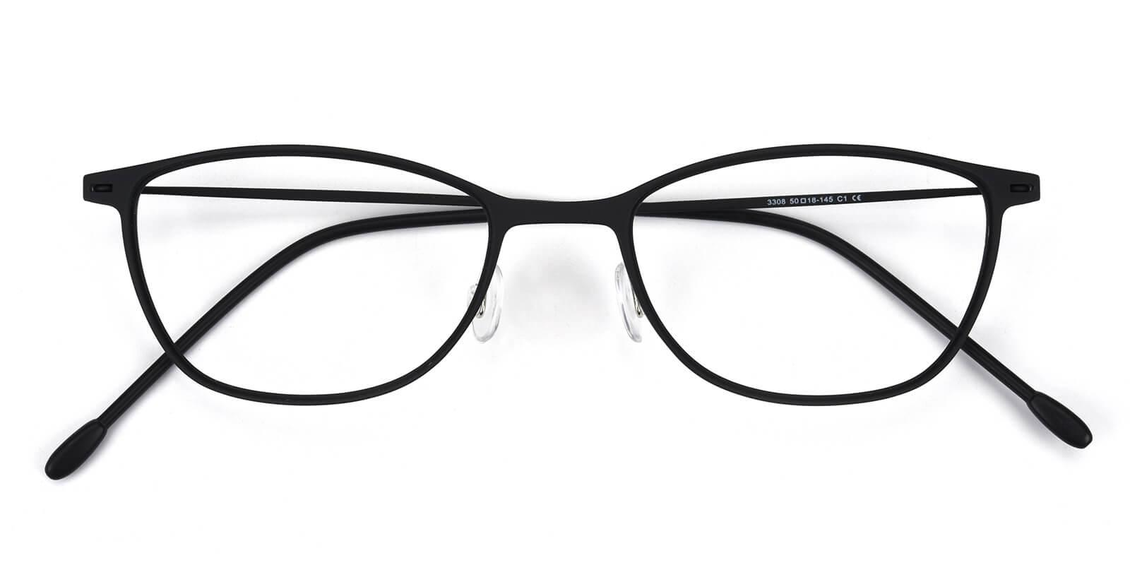 Pridgen-Black-Rectangle / Cat-Combination-Eyeglasses-detail