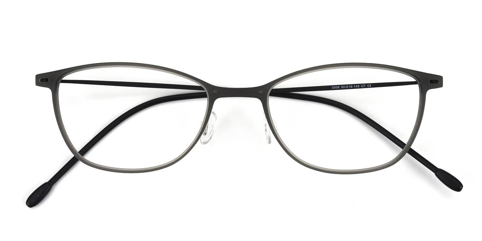 Pridgen-Gray-Rectangle / Cat-Combination-Eyeglasses-detail