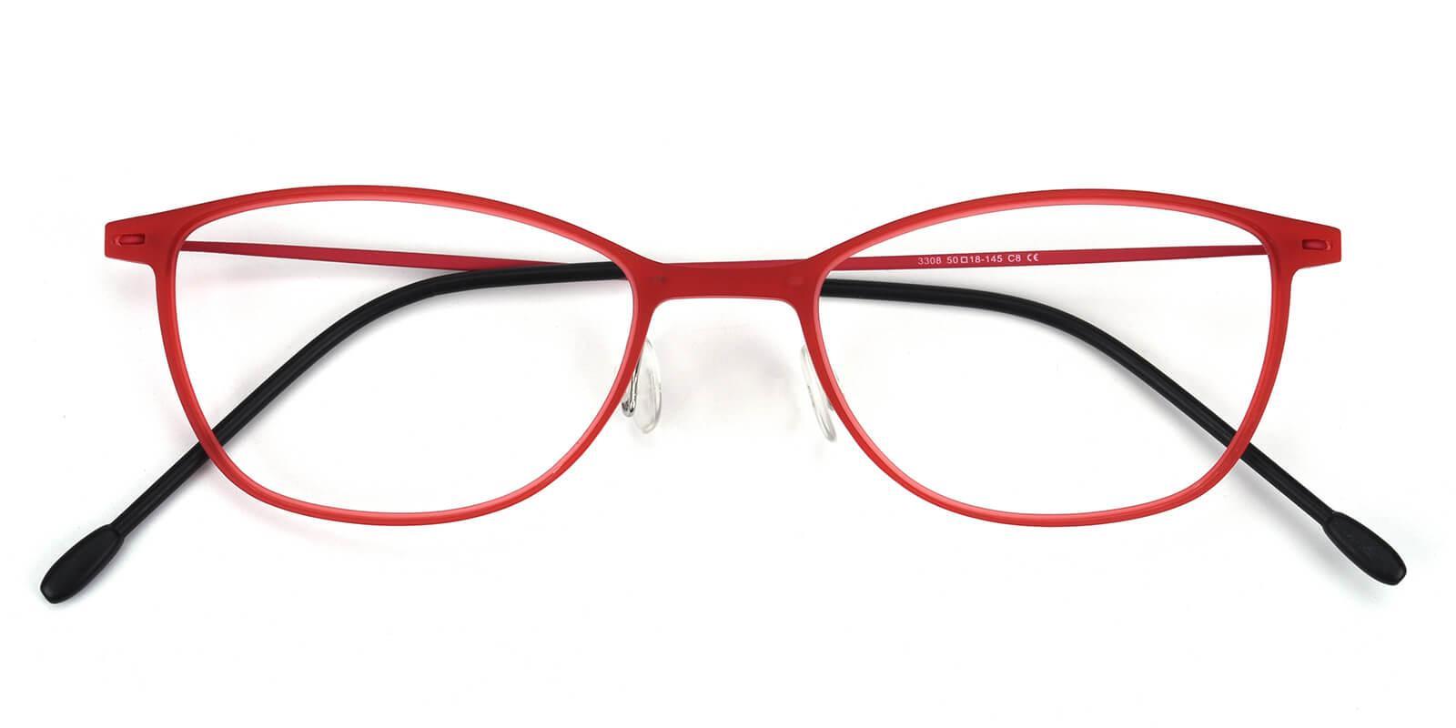 Pridgen-Red-Rectangle / Cat-Combination-Eyeglasses-detail