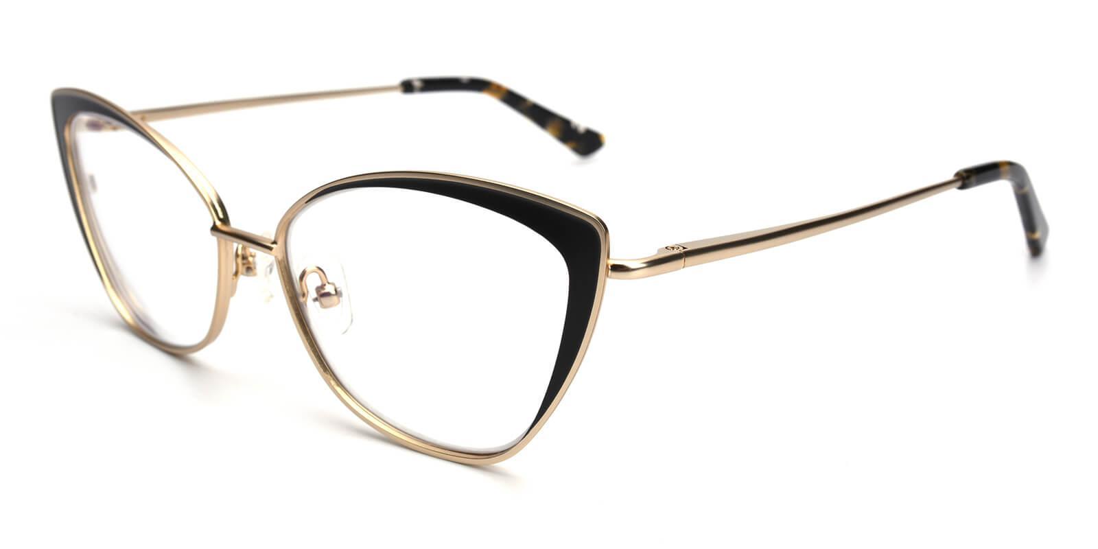 Bloor-Gold-Cat-Metal-Eyeglasses-detail