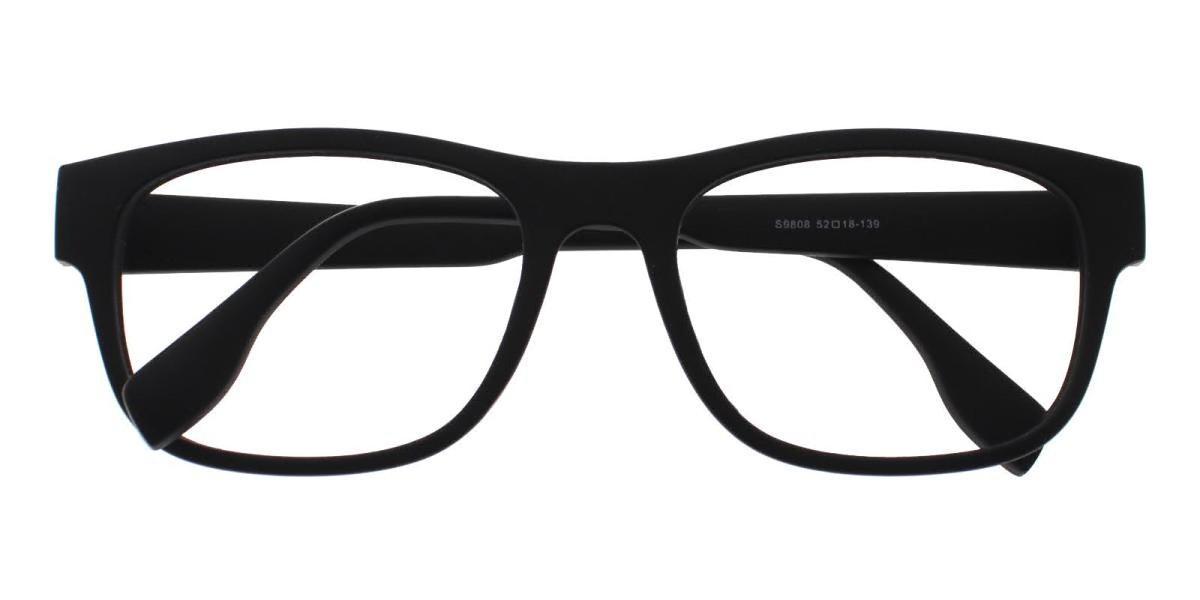 Richmond-Black-Rectangle-TR-Eyeglasses-detail