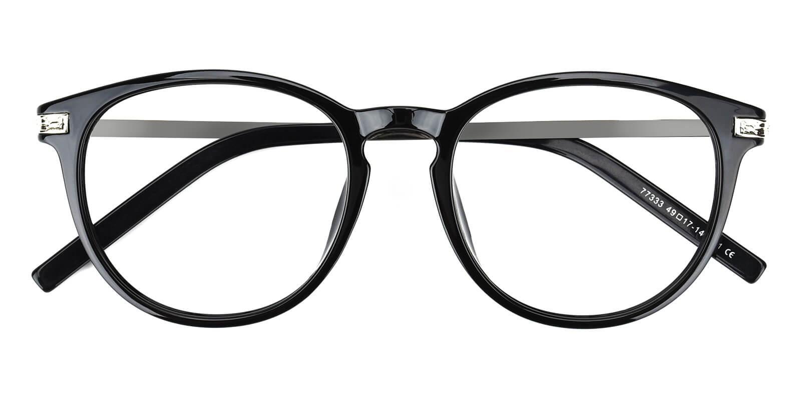 Gambia-Black-Round-Combination-Eyeglasses-detail