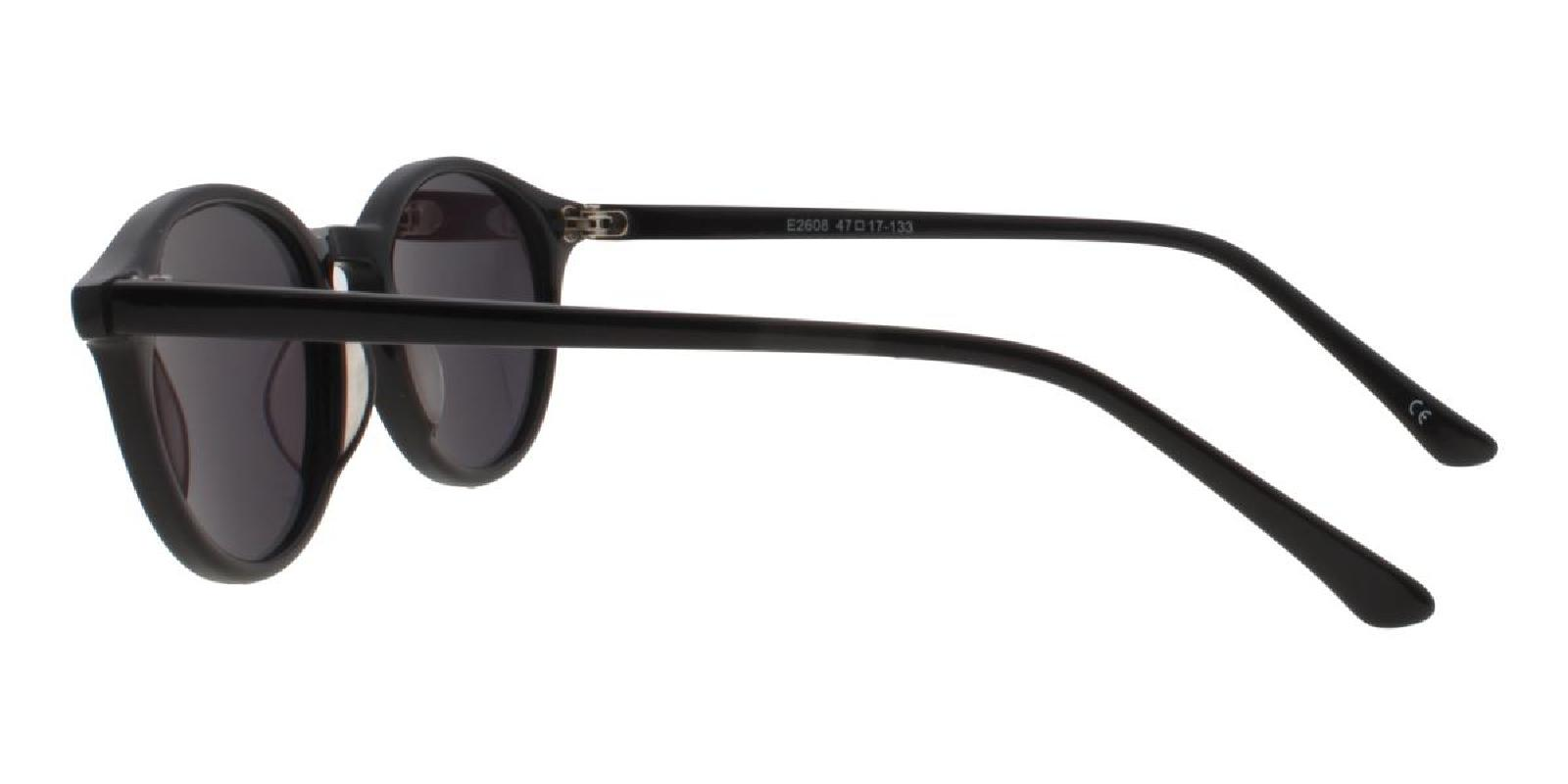 Grailm-Black-Round-Acetate-Sunglasses-detail