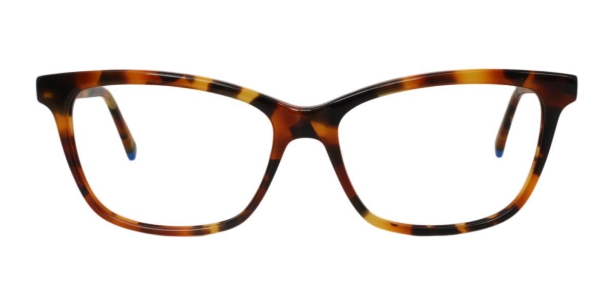 Clowdia-Leopard-Square / Cat-Acetate-Eyeglasses-detail