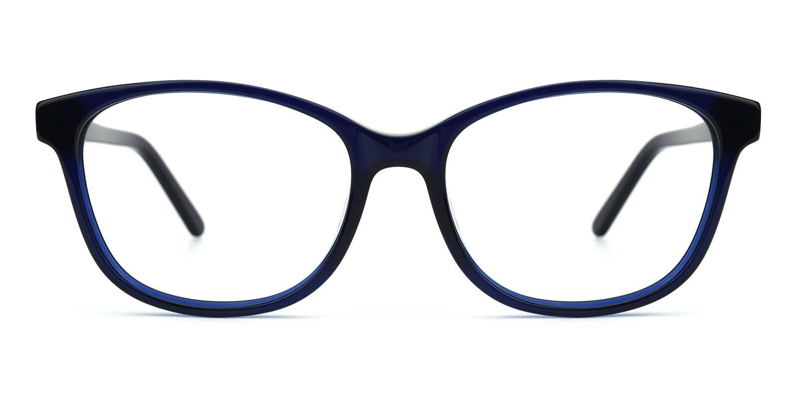 Bolivia-Blue-Cat / Rectangle-Acetate-Eyeglasses-detail