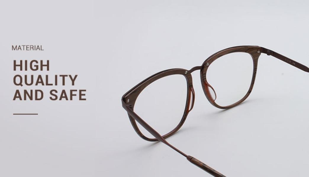 Grain-Brown-Acetate / Metal-Eyeglasses-detail2