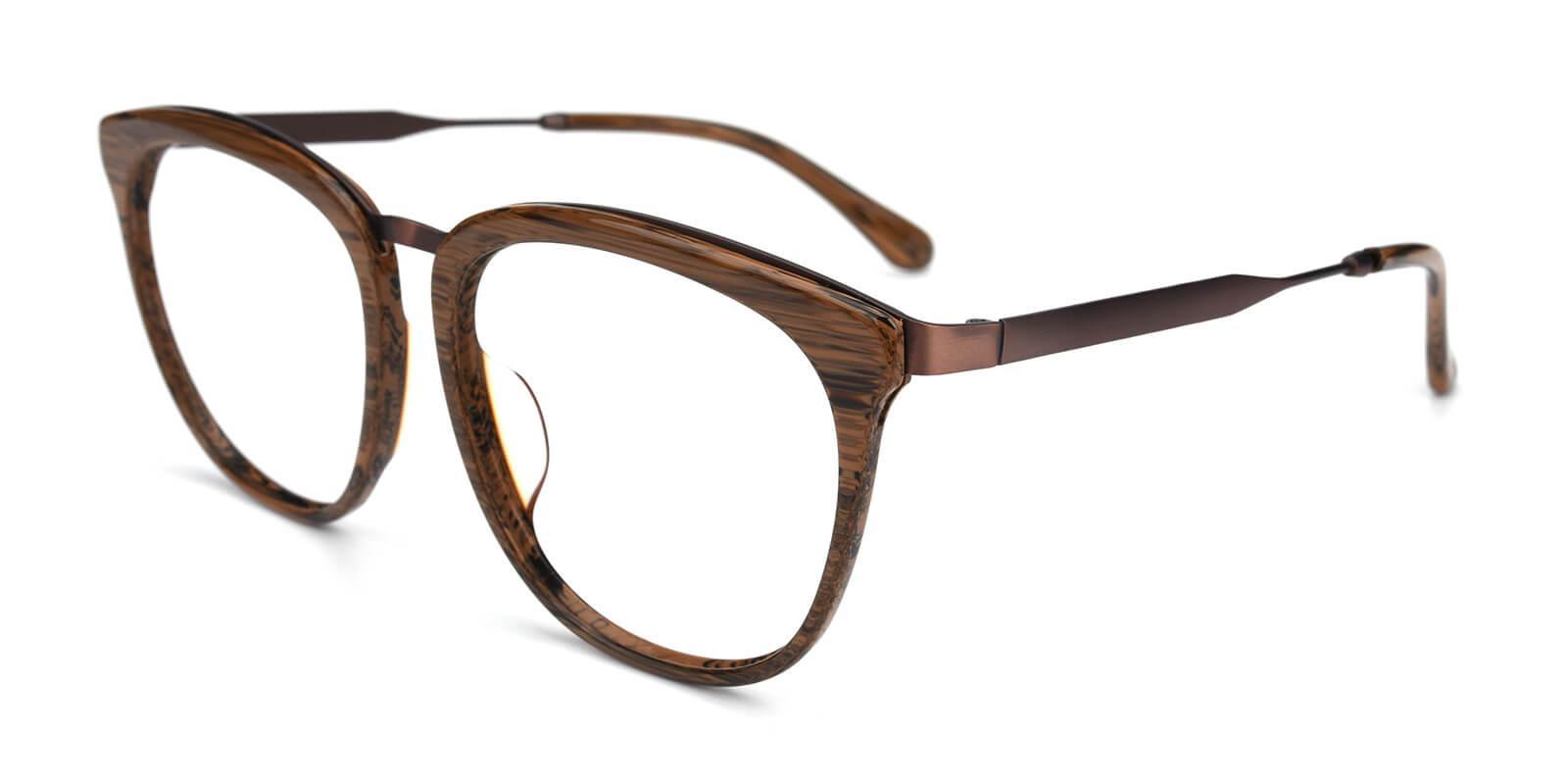Grain-Brown-Square-Acetate / Metal-Eyeglasses-additional1
