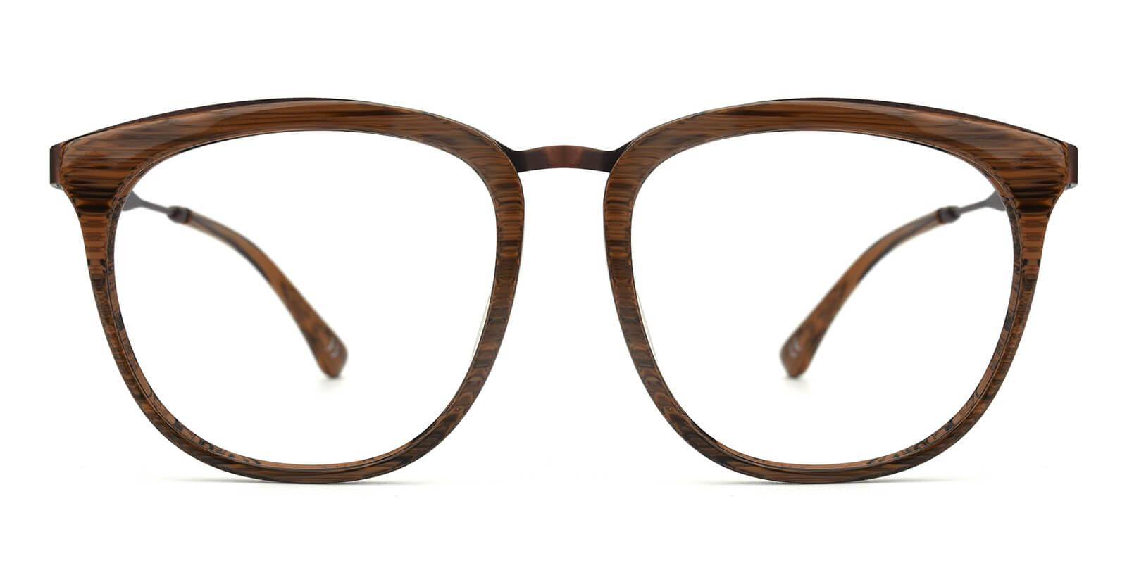 Grain-Brown-Square-Acetate / Metal-Eyeglasses-additional2