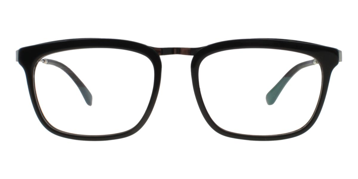 Lines-Black-Square-Acetate / Metal-Eyeglasses-additional2