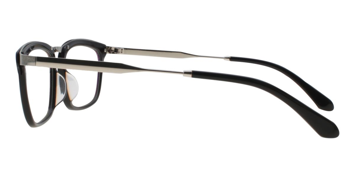 Lines-Black-Square-Acetate / Metal-Eyeglasses-additional3