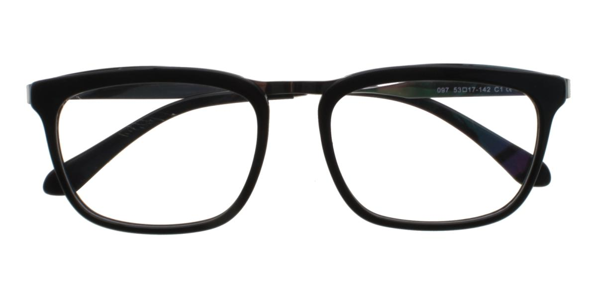 Lines-Black-Square-Acetate / Metal-Eyeglasses-detail