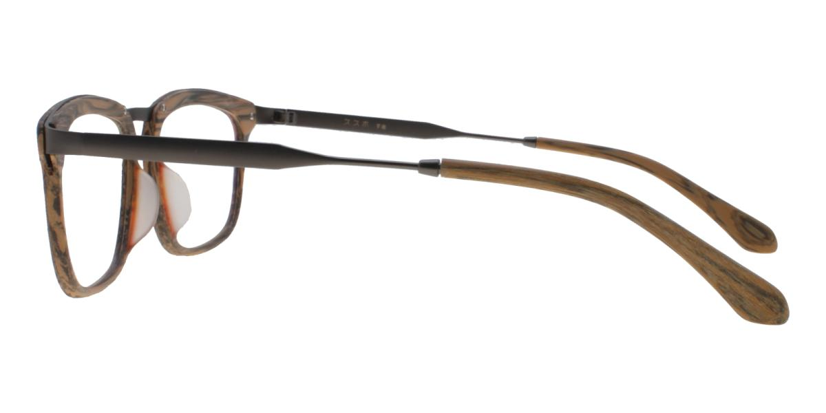 Lines-Brown-Square-Acetate / Metal-Eyeglasses-additional3