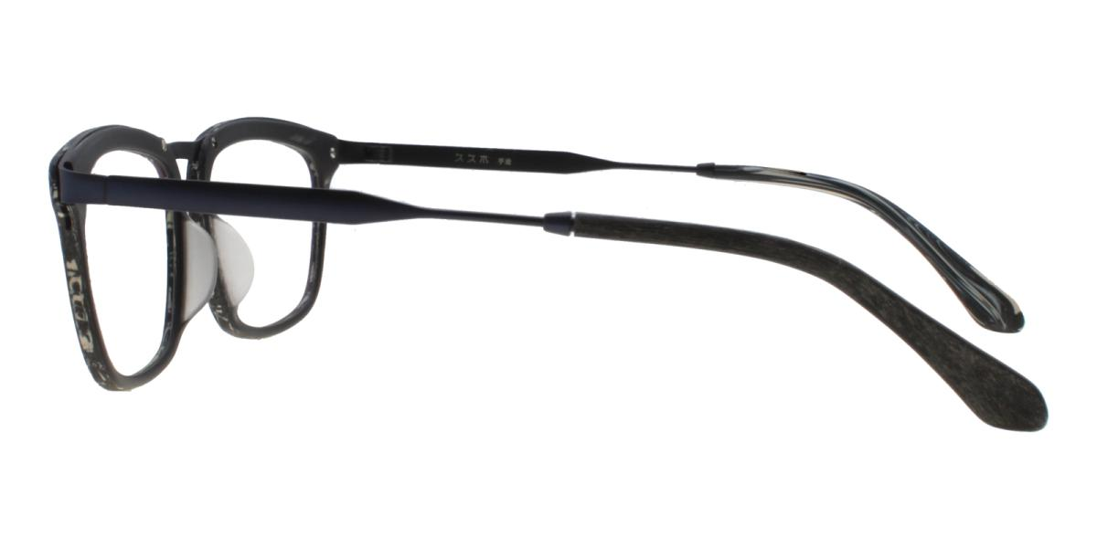 Lines-Pattern-Square-Acetate / Metal-Eyeglasses-additional3