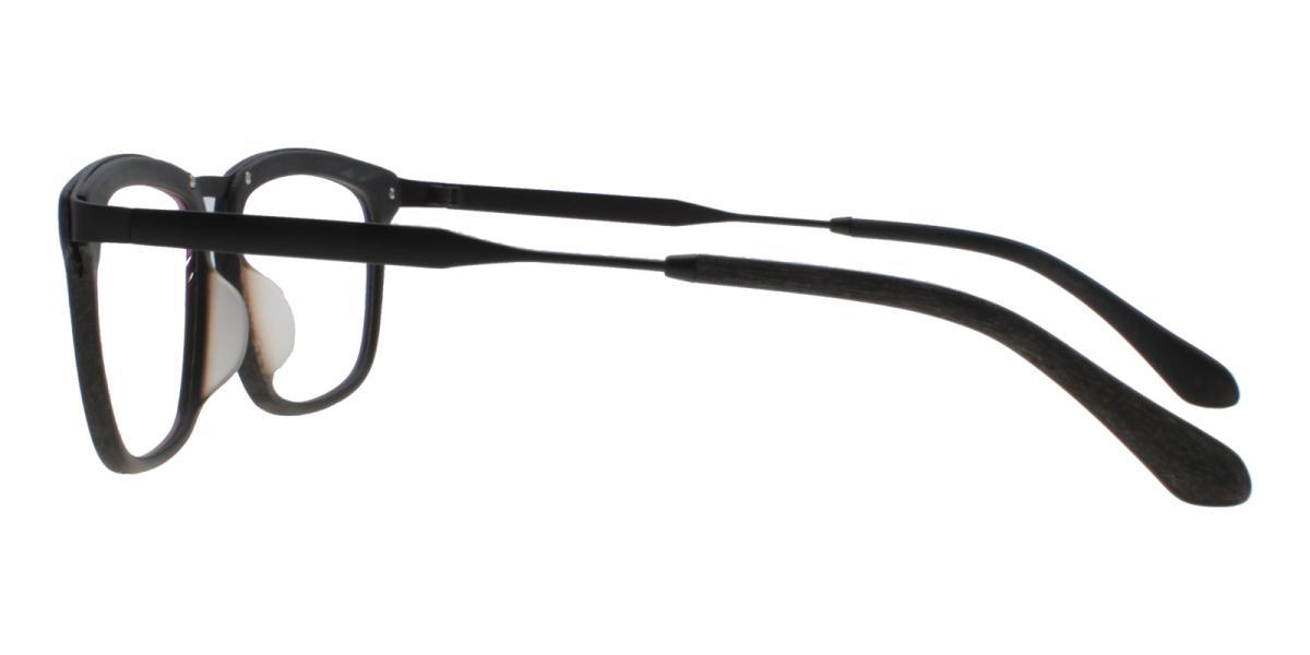 Lines-Striped-Square-Acetate / Metal-Eyeglasses-additional3