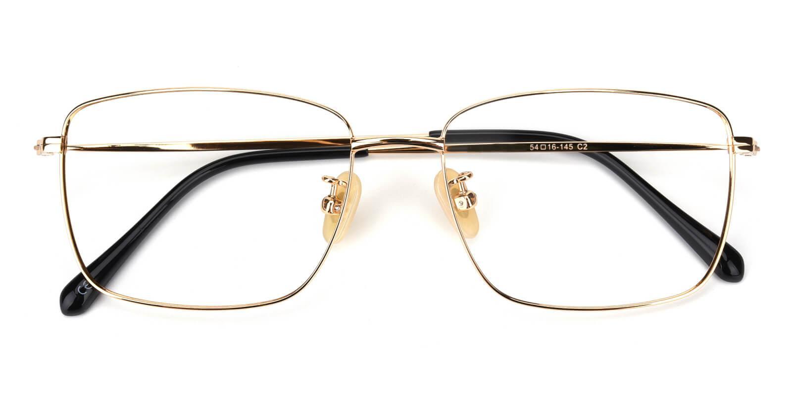 Pensieve-Gold-Square-Titanium-Eyeglasses-detail