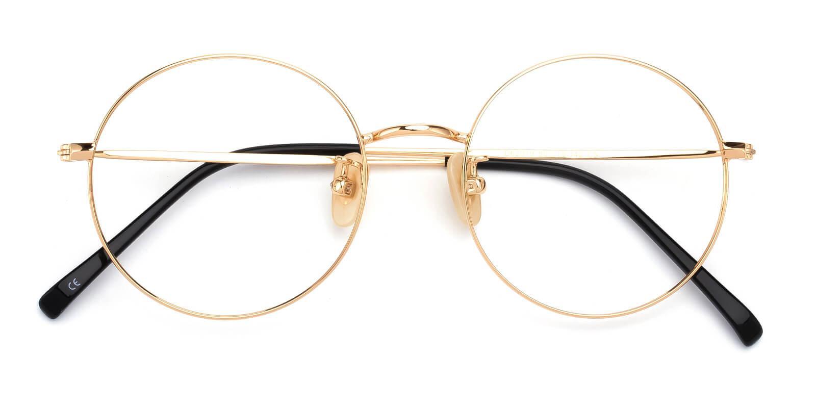 Theenity-Gold-Round-Titanium-Eyeglasses-detail