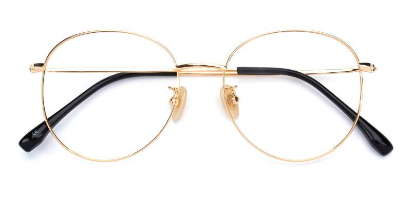 Mondigo-Gold-Eyeglasses / Lightweight / NosePads