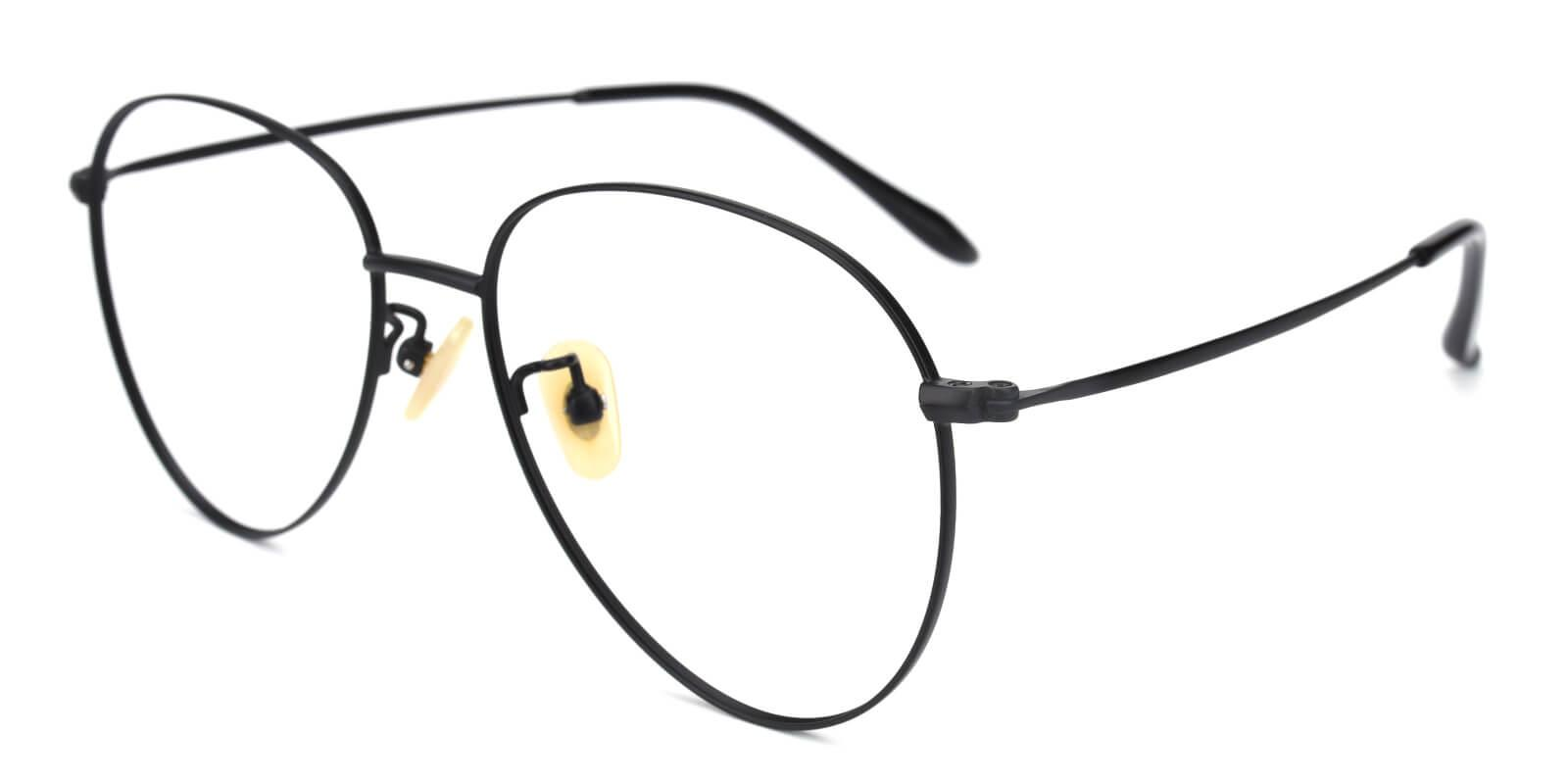 Epilogue-Black-Round-Titanium-Eyeglasses-detail