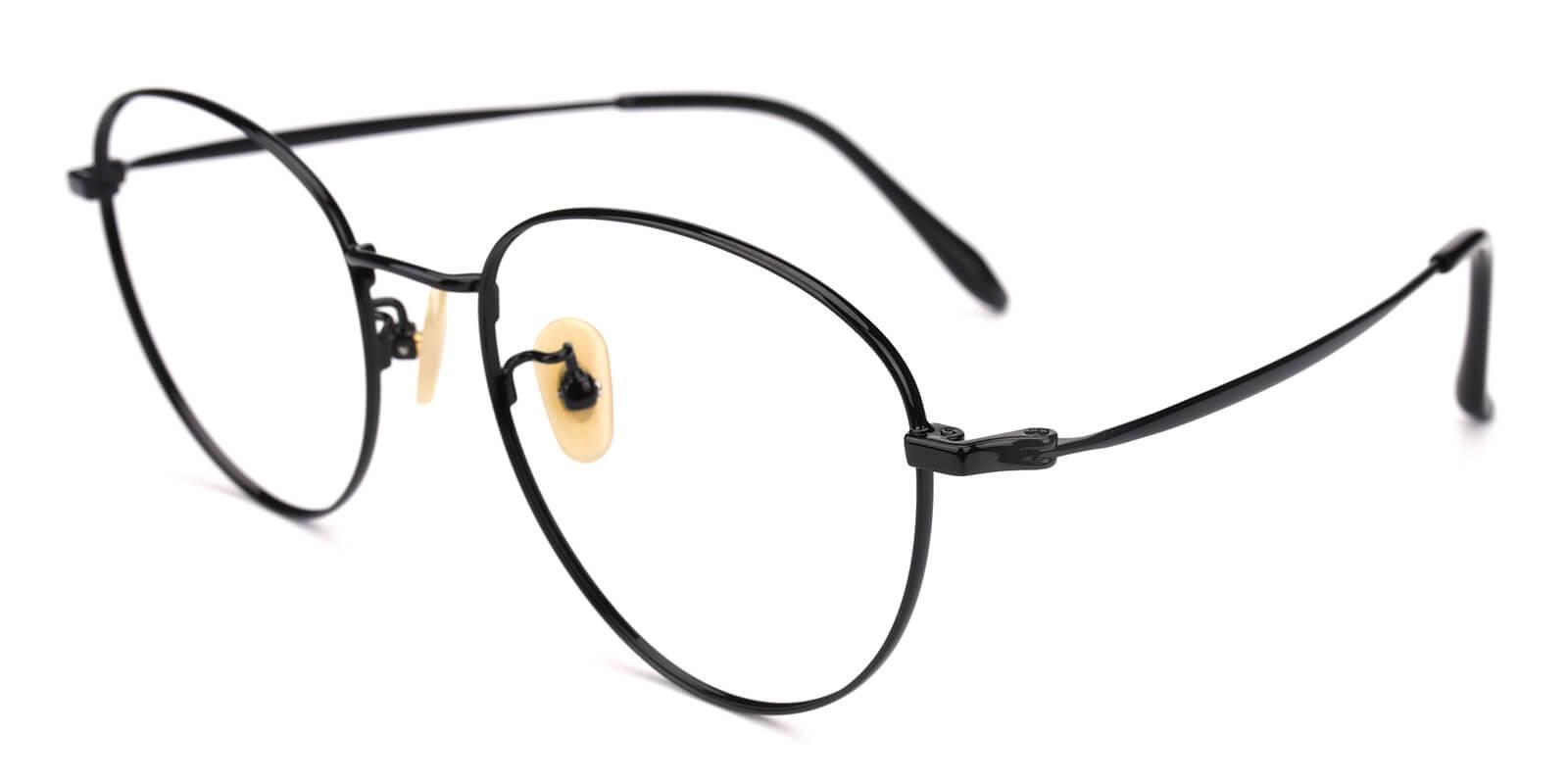 Litteray-Black-Round-Titanium-Eyeglasses-additional1