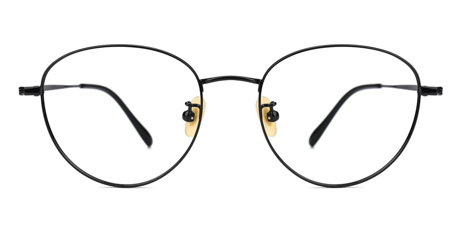 Litteray-Black-Round-Titanium-Eyeglasses-additional2