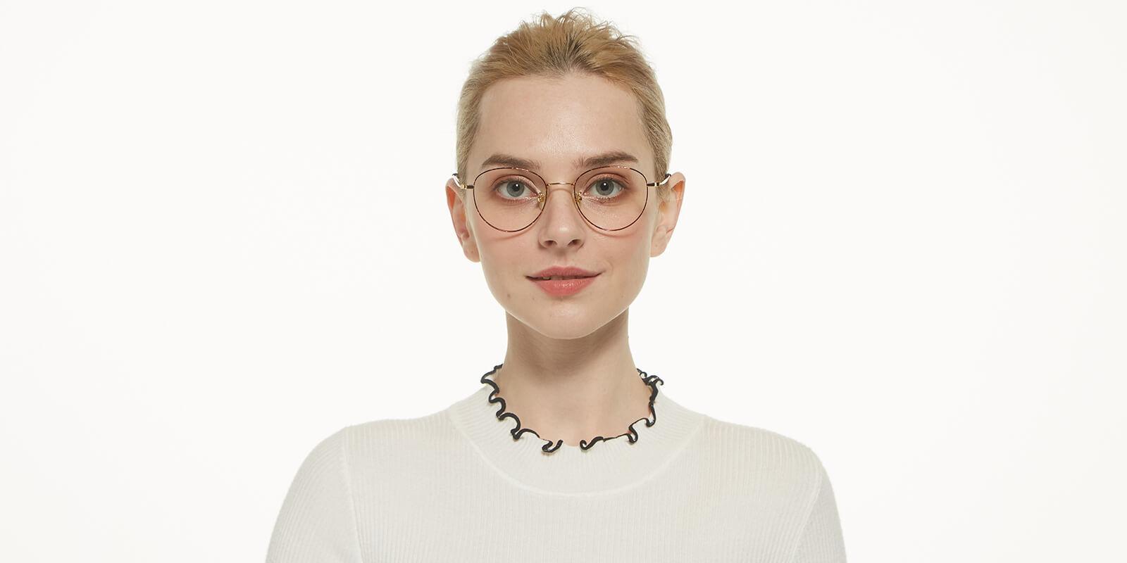 Litteray-Pattern-Round-Titanium-Eyeglasses-additional4