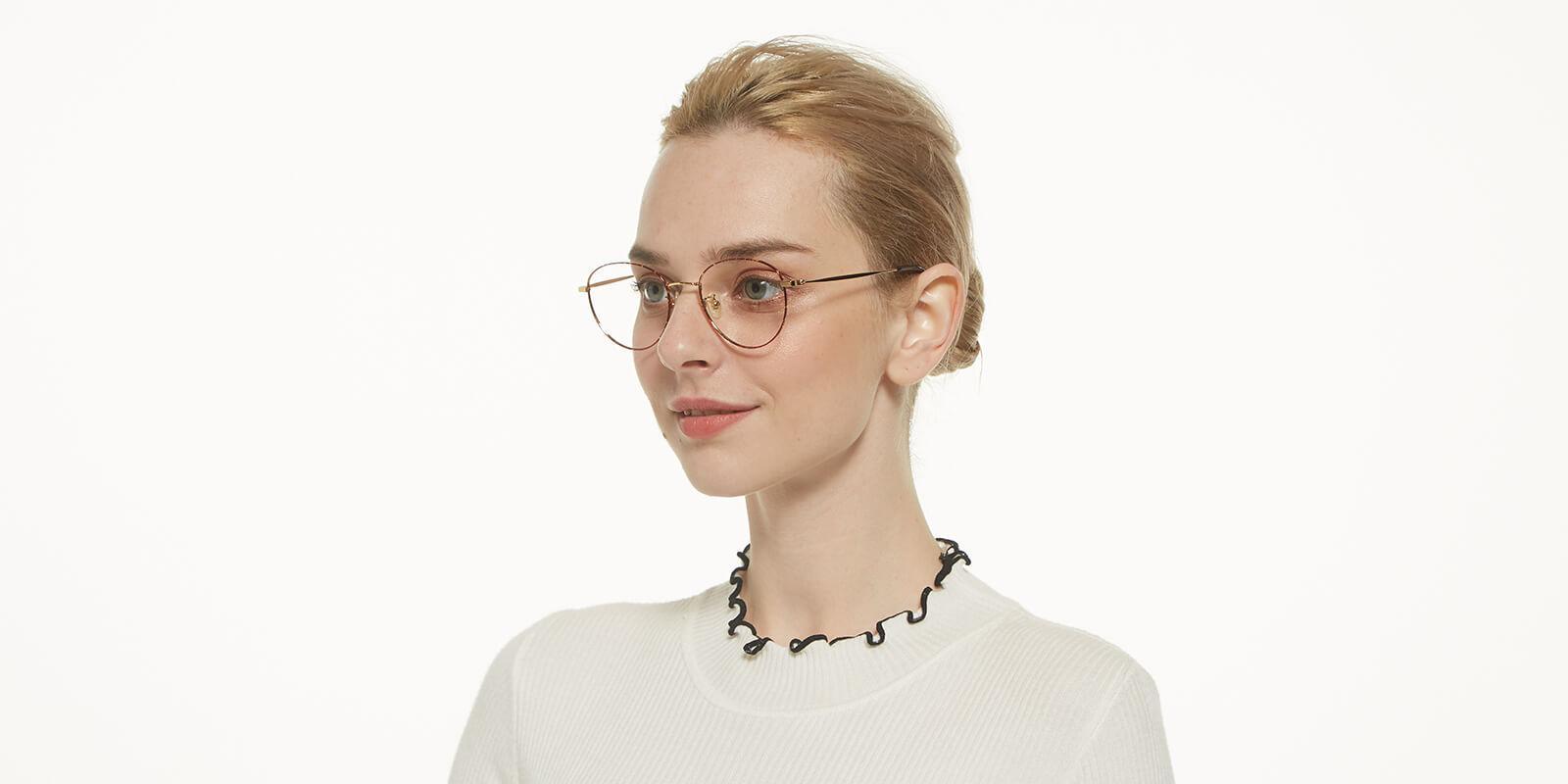 Litteray-Pattern-Round-Titanium-Eyeglasses-additional5